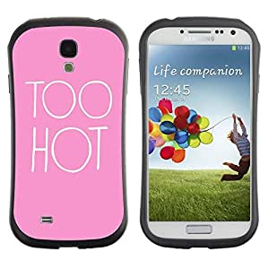 "Hypernova Slim Fit Dual Barniz Protector Caso Case Funda Para SAMSUNG Galaxy S4 IV / i9500 / i9515 / i9505G / SGH-i337 [Hot Pink Sexy Pink polluelo Cita""]"