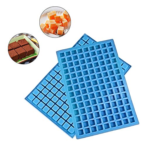 (Mini Square Silicone Mold/silicone candy molds for Chocolate Gummy Ice Cube Jelly Truffles Pralines Caramels Ganache set of 2(11.53