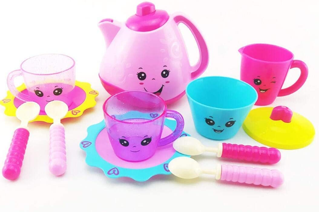 Tea Playset Toy Learn Sweet Manners Toddler Role Play Tea Set Toy for Children Party Learning Toy