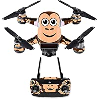 Skin for DJI Spark Mini Drone Combo - Monkey| MightySkins Protective, Durable, and Unique Vinyl Decal wrap cover | Easy To Apply, Remove, and Change Styles | Made in the USA