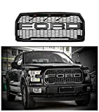 For 2015-2017 Ford F-150 Grille Raptor Style Matte Black XLT LARIAT PLATINUM (NO letters F & R)