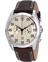 Ferrari Mens 0830174 D 50 Analog Display Quartz Brown Watch