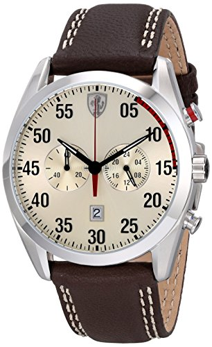 Ferrari Men's 0830174 Beige Leather Quartz Watch