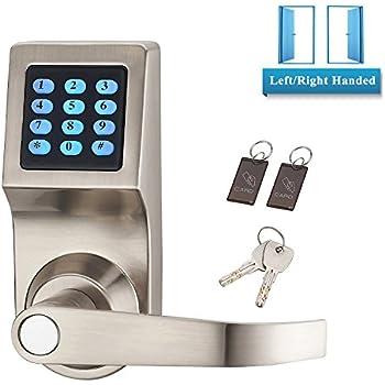 Electronic Door Locks Keyless Digital Push Button Keypad