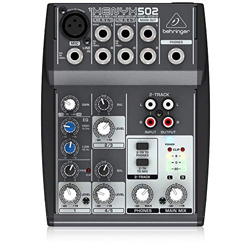 - Behringer Xenyx 502 Premium 5-Input 2-Bus Mixer with XENYX Mic Preamp and British EQ
