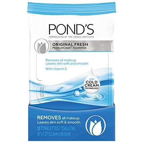 Pond's MoistureClean Towelettes, Original Fresh Makeup Re...