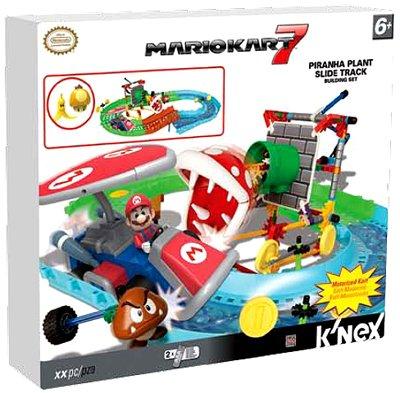 K'NEX Nintendo Mario Kart 7 Piranha Plant Slide Track - Race Knex Car