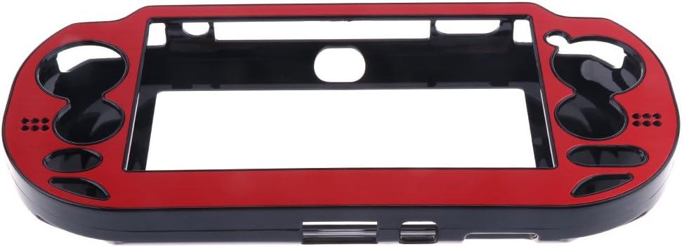 Rouge Sharplace /Étuis en Aluminium Bross/é Plaqu/é Bo/îtier en Plastique Protecteur Couverture pour PS Vita Sony