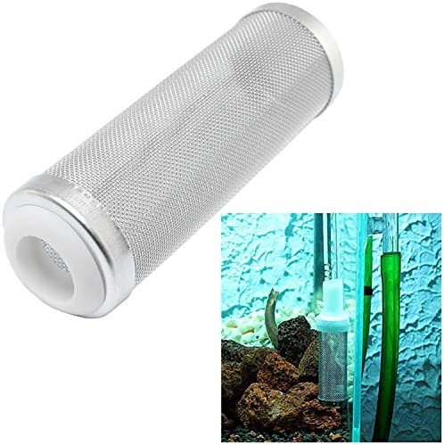 DGZZI Aquarium Tank Filter 16mm Stainless Steel Mesh Strainer Pre-Filter Tube Intake Filter