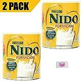 powdered milk peak - Nestle Nido Powdered Milk Fortificada - Whole Dry Milk Powder for Adult & Kids - Leche Nido en Polvo - Dried Powered Milk in Bulk - BASED BOX Bundle (1.76lb, Pack of 2)