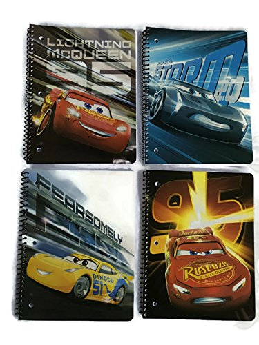 Cars 3 Movie - Four Notebook Combo Pack