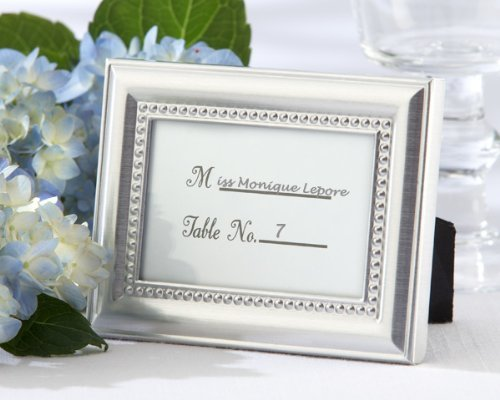 (Beautifully Beaded Silver Photo Frame/Placeholder