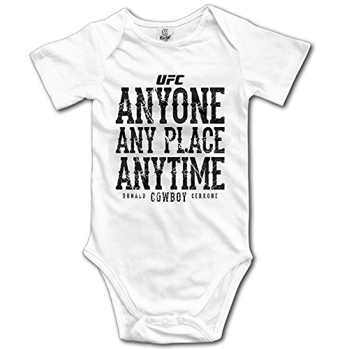 Unisex Fighter Donald Cerrone Cowboy Anyone&place Anytime Baby Short Sleeve Onesies