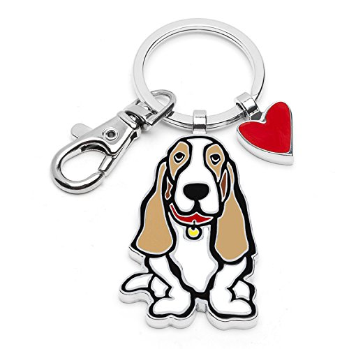 Marc Tetro Dog Keyrings (Bassett - Bassett Hounds