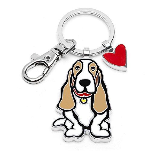 Marc Tetro Dog Keyrings (Bassett Hound)