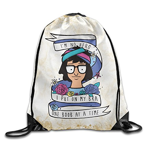 Cheap Funny Bob's Burgers Training Gym Drawstring Backpack Sack Bag