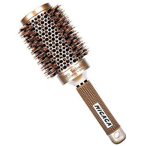 Thermal Boar Brush - MIGAGA Nano Thermal Ceramic & Ionic Round Barrel Hair Brush with Boar Bristle (2inch)