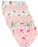 6 Pack Little Girl Underwear Cotton Fit Age 1-7, Baby Girls Panties Toddler Girl's Undies (Flamingo, 5-6 Years/Waist 18.1'',Height 46''-48'')