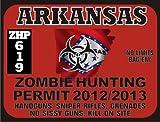Arkansas Zombie Hunting Permit 2012/2013 (Bumper Sticker)