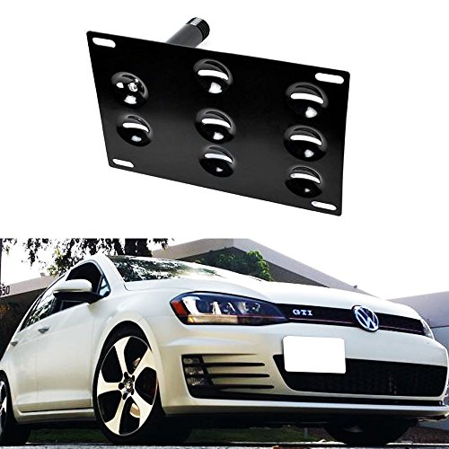 iJDMTOY Front Bumper Tow Hole Adapter License Plate Mounting Bracket For 2015-up Volkswagen MK7 Golf GTi (Vdub License Plate Frame compare prices)