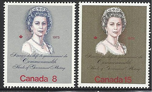 s 1973 MNH 2v. Royal Visit & Commonwelth Heads of Goverment Meeting Queens ()
