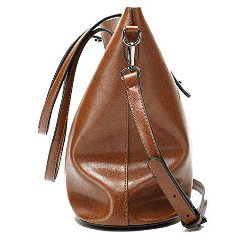 Tibes Moda spalla sacchetto impermeabile borsetta di pelle sintetica D Nero 2