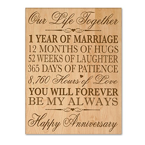 1st wedding anniversary wall plaque gifts for couple 1st for 1st wedding anniversary gifts her