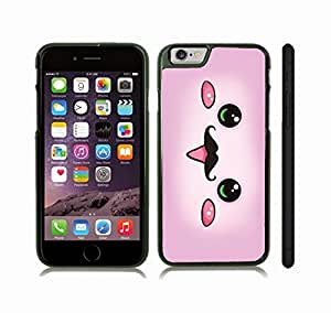 Case Cover For LG G3 with Cute Pink Animated Face with Mustache Design Snap-on Cover, Hard Carrying Case (Black)