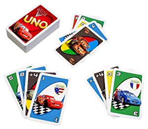 Amazon Com Disney Pixar Cars 2 Movie Uno Card Game Toys Amp Games