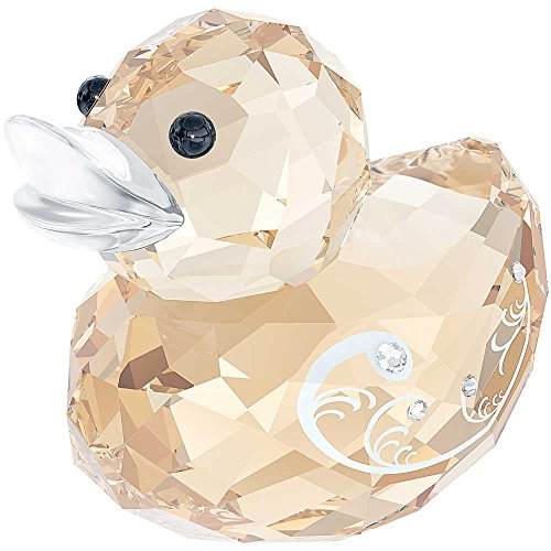 Swarovski Happy Duck Figurine - Miss Elegant Crystal Duck Figurine