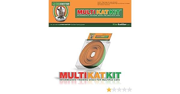 Litter Kwitter MultiKatKit Kit para inodoro, para gatos: Amazon.es ...