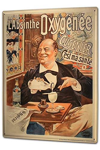 Tin Sign 8X12 inches Nostalgic Alcohol Retro Absinthe for sale  Delivered anywhere in Canada