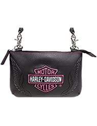 Harley-Davidson® Womens Embroidered Bar & Shield® Hip Bag ZWL5837-PNKBLK