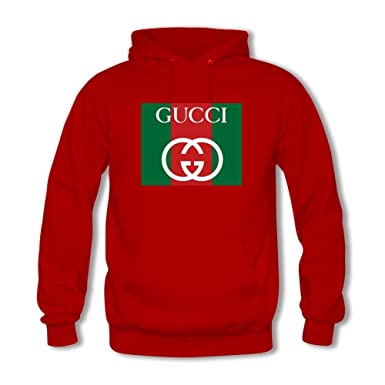 bc46dd15949 Colorful Gucci Men s Hoodie - red - Large  Amazon.co.uk  Clothing