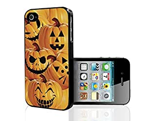Pumpkins with Fun Face Carvings Hard Snap on Phone Case (iPhone 5/5s) by icecream design