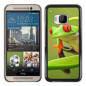 Paccase / SLIM PC / Aliminium Casa Carcasa Funda Case Cover para - Frog Green Orange Tropical Summer - HTC One M9