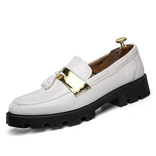 Man-hj - Mocasines de Papel para Hombre, Color Blanco, Talla 39: Amazon.es: Zapatos y complementos