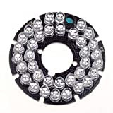 HonYan 2PCS 36 LEDs 5mm 850nm IR Infrared Board Round Plate 90 Degrees