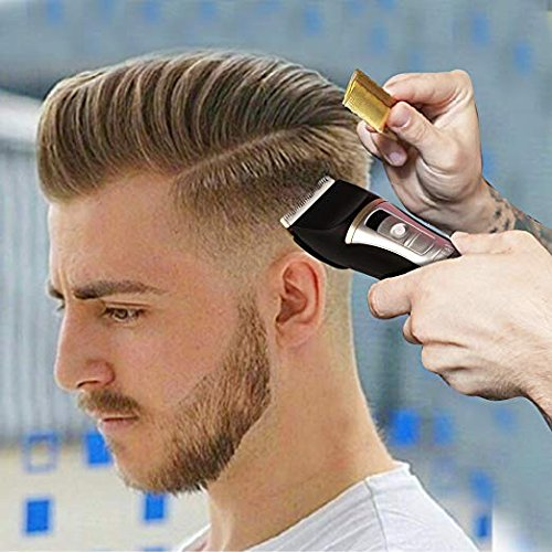 Hair Clippers For Men Professional 5-Speed Cordless Rechargeable Hair Cutting Set Quiet Haircut Kit For Kids,Boy,Personal Electric Ceramic Blade Beard Trimmer&LED Screen Display Intelligent Protection by kiizon (Image #6)