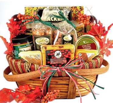 Meat and Cheese Thanksgiving Gourmet Gift Basket - Size Medium