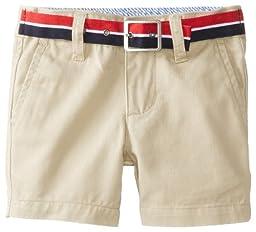 Tommy Hilfiger Baby Boys\' Charlie Flat Front Short, Travel Khaki, 6 Months