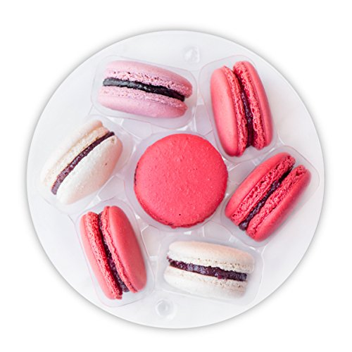 7 Macarons Set - French Cookies Mix - Macaroons Made in USA by French Chefs - 12 Flavors Assortment