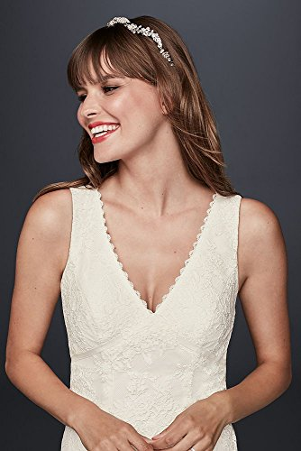 White Neck Empire Bridal Lace David's Dress Flower KP3783 Style V Wedding Waist BP0TI