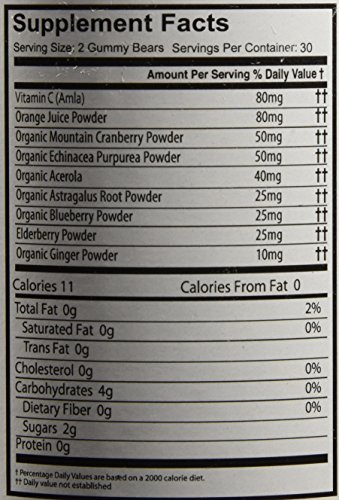 Natures Dynamics Immune and Vitamin C Whole Food Gummy, 60 Gummies
