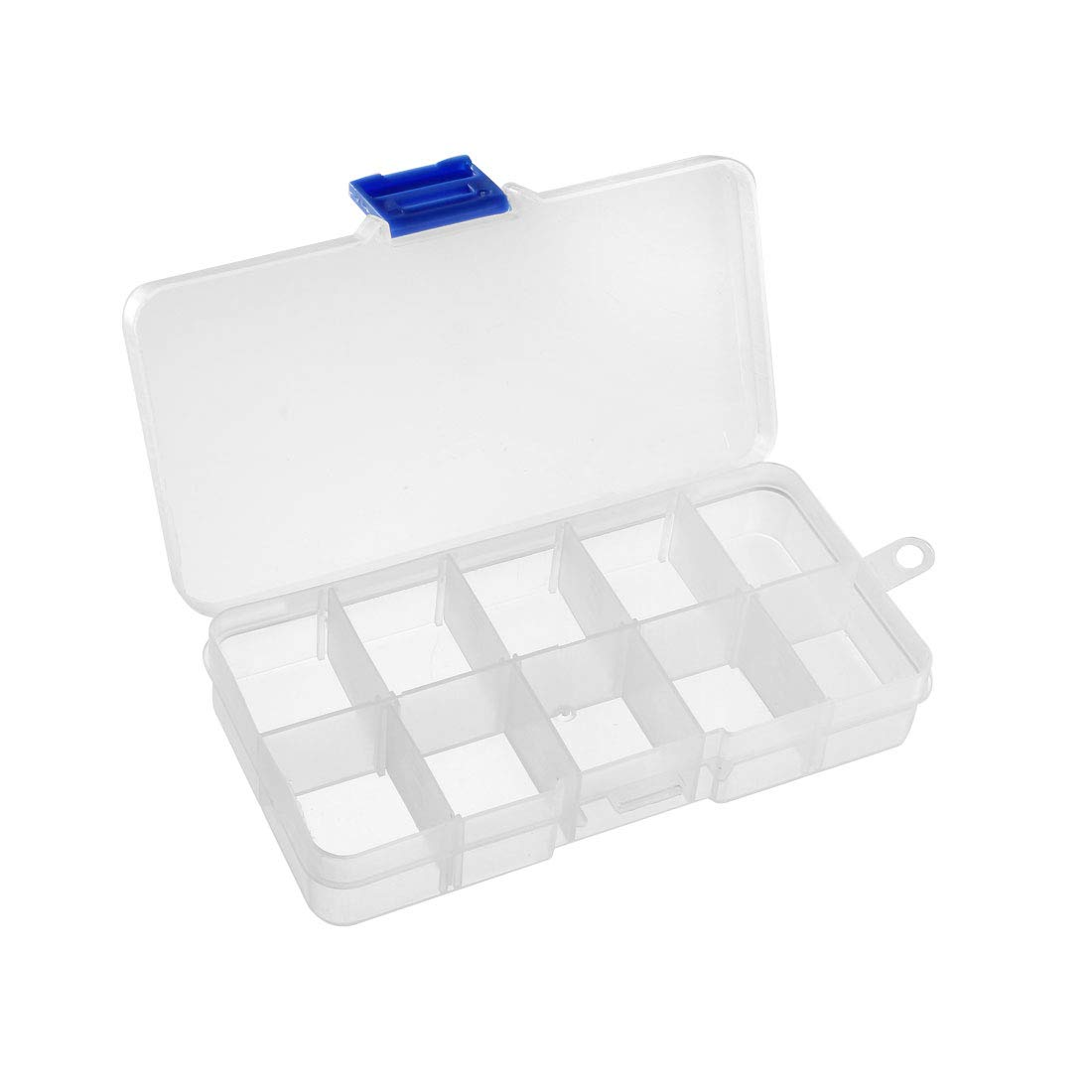 uxcell Component Storage Box PP Adjustable 8 Grids Electronic Component Containers Tool Boxes Clear White 230x160x60mm