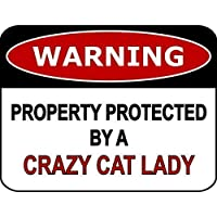 Tin Sign Fashion Warning Property Protected by A