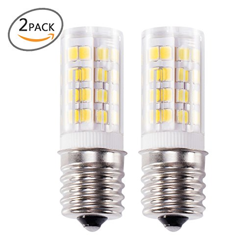 Kohree E17 LED Bulb Microwave Oven Light, Stove Bulb Light 4W Daylight White Non-dimmable 6000K 52X2835SMD AC110-130V (Pack of 2)