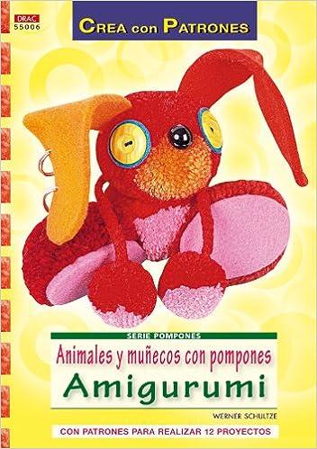 animales y munecos con pompones amigurumi con patrones para real