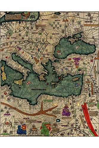 History Prints Cresques Catalan Atlas; World Map; 1387; Antique Map; Plate 3 of 3 ()