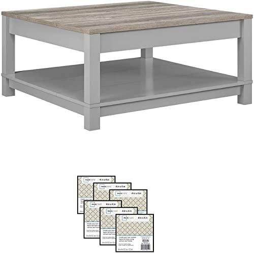 Langley Bay Chic Style Coffee Table, Gray